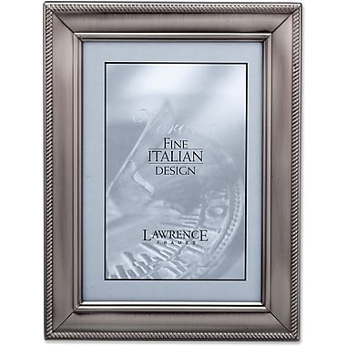 310157 Brushed Pewter Metal Classic Rope 5x Picture Frame