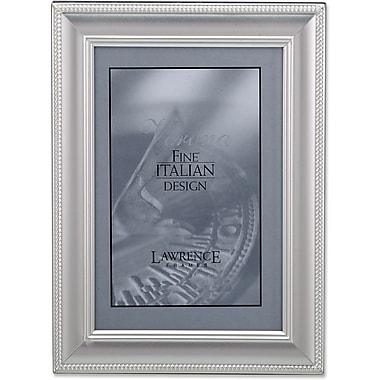 310146 Satin Silver Metal Classic Rope 4x Picture Frame