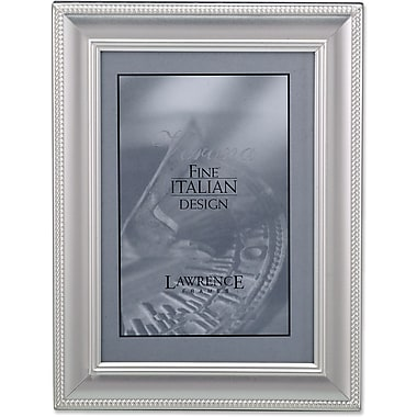 310257 Satin Silver Metal Classic Rope 5x7 Picture Frame