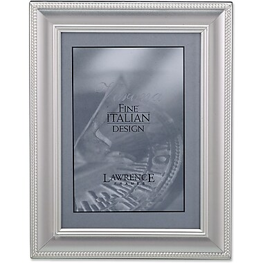 310280 Satin Silver Metal Classic Rope 5x7 Picture Frame