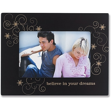 4x6 Walnut Wood Believe in Your Dreams Picture Frame