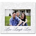 4x6 Ivory Live Laugh Love Picture Frame