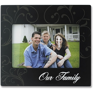 4x6 Black Wood Our Family Picture Frame