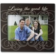 4x6 Brown Wood Living The Good Life Picture Frame