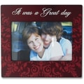 4x6 Burgundy Wood Great Day Picture Frame