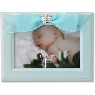 4x6 Blue Wood Picture Frame with Blue Ribbon