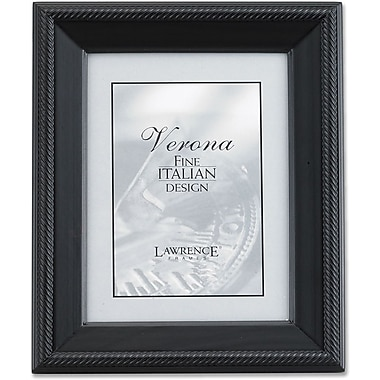 Lawrence Frames Verona Collection 4in. x 5in. Wooden Black Picture Frame (410045)