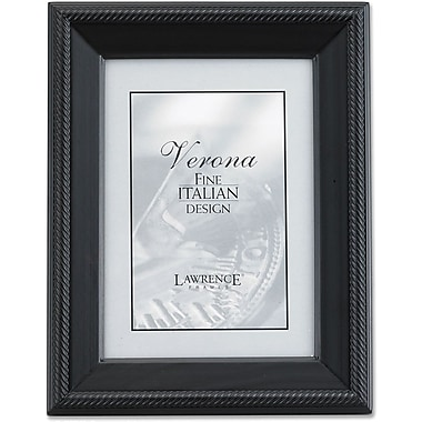 Lawrence Frames Verona Collection 5in. x 7in. Wooden Black Picture Frame (410057)