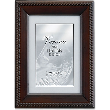 Lawrence Frames Verona Collection 4in. x 6in. Wooden Walnut Picture Frame (410146)