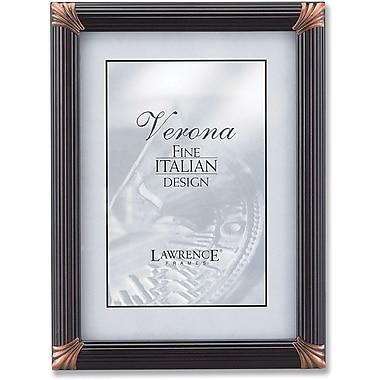 Lawrence Frames Espresso Pinstripe Wood With Bronze Metal Corners
