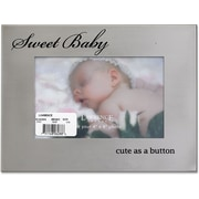 Brushed Silver Metal 4x6 Sweet Baby Picture Frame