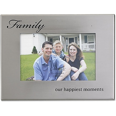 Brushed Silver Metal 4x6 Family Picture Frame