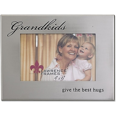 Brushed Silver Metal 4x6 Grandkids Picture Frame