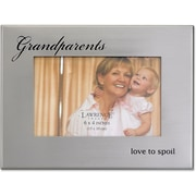 Brushed Silver Metal 4x6 Grandparents Picture Frame
