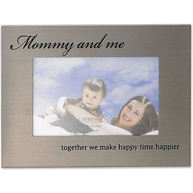 416464 Mommy & Me Brushed Metal 6x4 Picture Frame