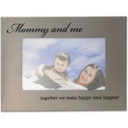 416464 Mommy & Me Brushed Metal 4x6 Picture Frame