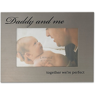 416564 Daddy & Me Brushed Metal 6x4 Picture Frame