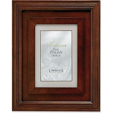 Dimensional Wide Walnut Wood 4x6 Picture Frame