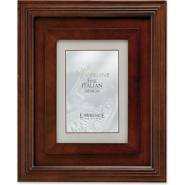 Dimensional Wide Walnut Wood 5x7 Picture Frame