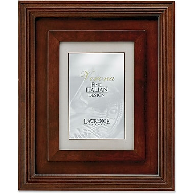 Dimensional Wide Walnut Wood 8x10 Picture Frame