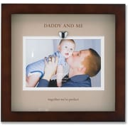 Brown Wood Picture Frame With Beige Mat- Daddy And Me Design