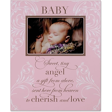 Pink Plaque 4x6 Picture Frame - Baby Design