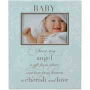 Blue Plaque 4x6 Picture Frame - Baby Design