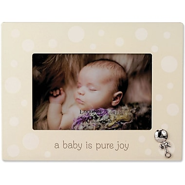 Beige And White Polka Dot 4x6 Picture Frame - Baby Design
