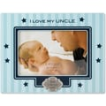 Blue Pinstripe 4x6 Picture Frame - I Love My Uncle Design