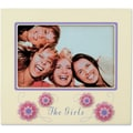 Beige 4x6 Picture Frame - The Girls And Flower Design