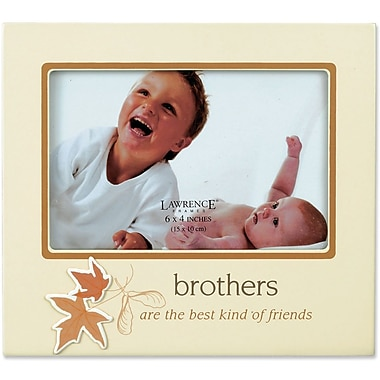 Beige 4x6 Picture Frame - Brothers And Leaf Design