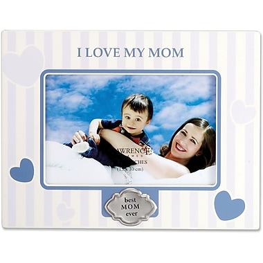430046 I Love My Mom 4x6 Horizontal Picture Frame