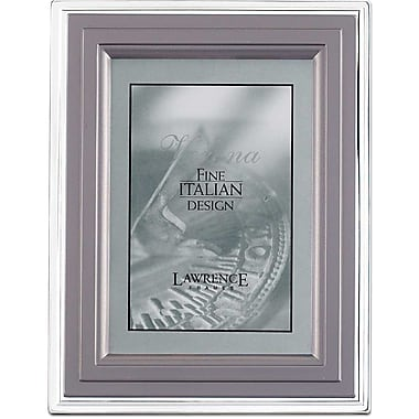4x6 Metal Picture Frame Charcoal and Silver Step
