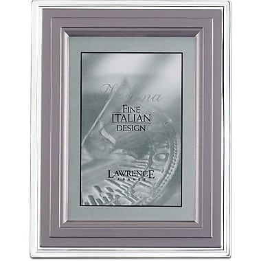 4in. x  6in. Metal Picture Frame Charcoal and Silver Step