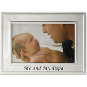 Brushed Metal 4x6 Me and my Papa Picture Frame - Sentiments Collection