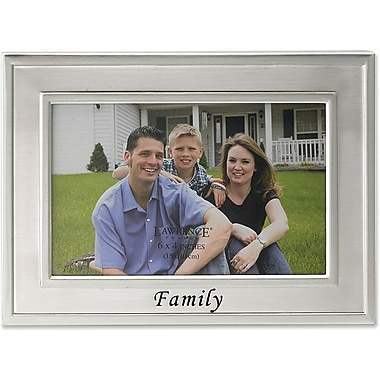 Brushed Metal 4x6 Family Picture Frame - Sentiments Collection