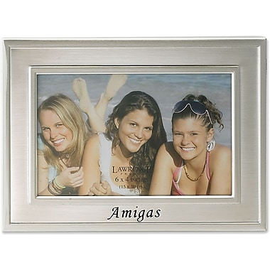 Brushed Metal 4x6 Amigas Picture Frame - Spanish Sentiments Collection