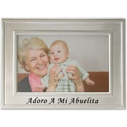 Brushed Metal 4x6 Adoro A Mi Abuelita Frame - Spanish Sentiments Collection