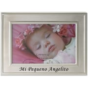 Brushed Metal 4x6 Mi Pequeno Angelito Frame - Spanish Sentiments Collection