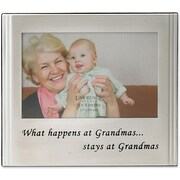 Brushed Metal 4x6 What Happens at Grandmas Stays at Grandmas Picture Frame - Sentiments Collection
