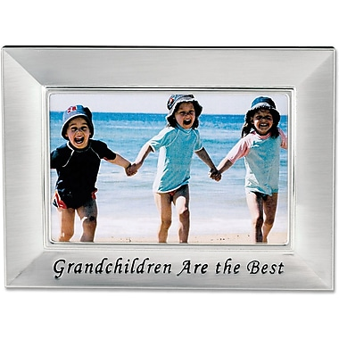 Brushed Metal 4x6 Grandchildren Picture Frame - Sentiments Collection