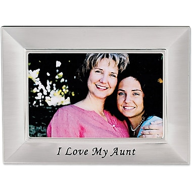Aunt Silver Plated 6x4 Picture Frame - I Love My Aunt Design