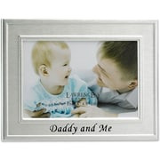 Daddy and Me Silver Plated 6x4 Picture Frame - Daddy And Me Design