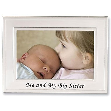 Big Sister Silver Plated 6x4 Picture Frame - Me And My Big Sister Design