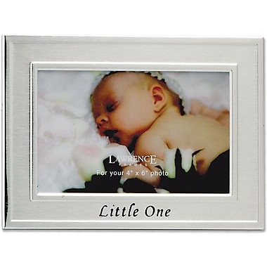 Brushed Metal 4x6 Little One Picture Frame - Sentiments Collection