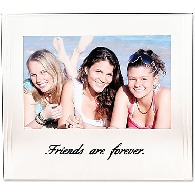 Friends Silver Plated  6x4 Picture Frame - Friends Are Forever Design