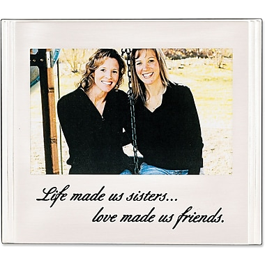 Sisters Silver Plated 6x4 Picture Frame - Love Made Us Friends Design