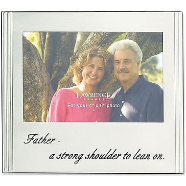 Father Silver Plated 6x4 Picture Frame - A Strong Shoulder To Lean On Design
