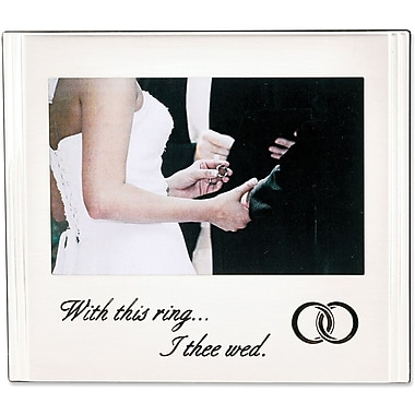 With this ring - I Thee Wed Theme 6x4 Picture Frame