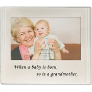 "Lawrence Frames Sentiments Collection ""When a Baby is Born So is A Grandmother"" 6"" x 4"" Metal Picture Frame (507764)"